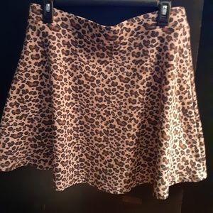 Brand New Leopard Print Skater Skirt